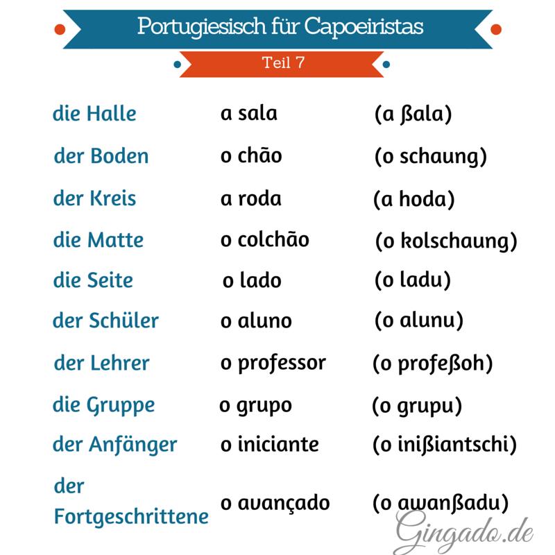 Portugiesisch für Capoeiristas 7
