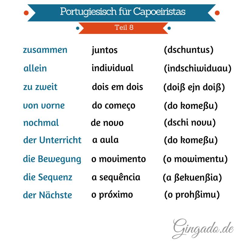 Portugiesisch für Capoeiristas 8